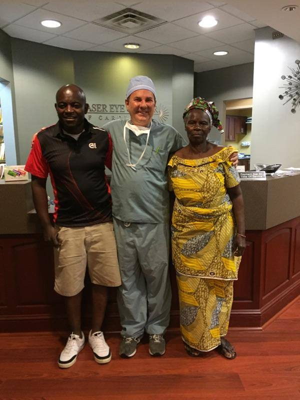 Patient travels from Africa to receive eye surgery from Dr. Dornic.