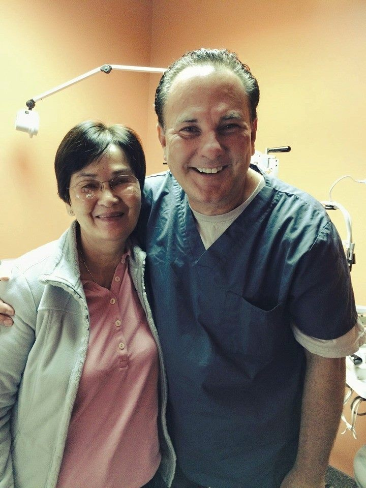 Patient brought from Vietnam by her son for cataract surgery with Dr. Dornic